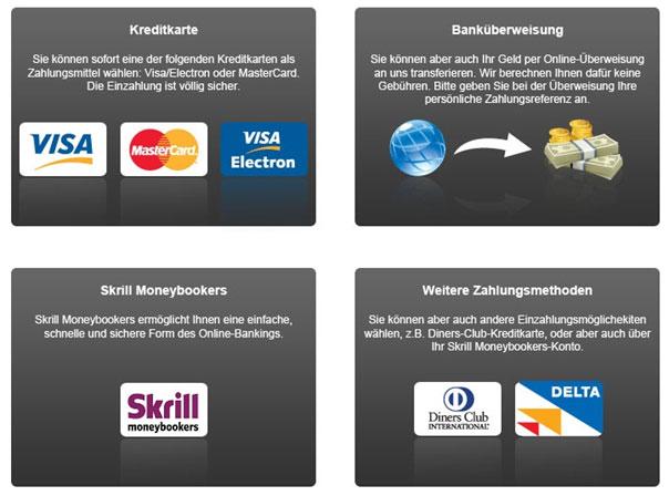 Betclic Zahlungsoptionen